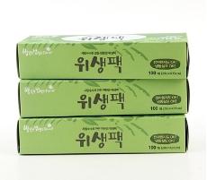 '행밥' 친환경 위생팩(중) (3개 묶음)