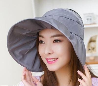 휴대용 와이어 여성 썬모자 / 휴대간편 야외활동 필수품