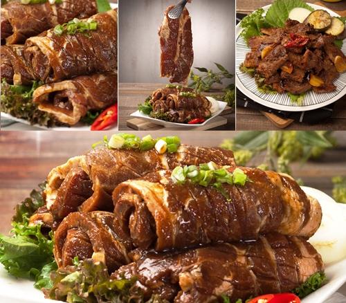 마미맘 녹차 돼지갈비 (100% 한돈) 2팩(3kg 8대)