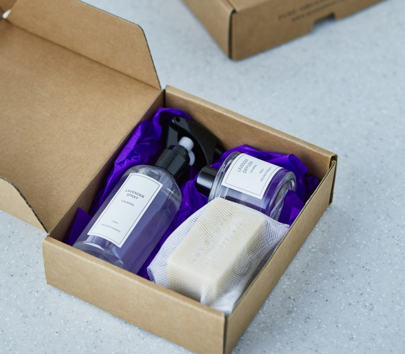 [정품] 굿어스 라벤더 드림 박스[섬세하고 우아한 향 / 라벤더 디퓨저 50ml, 라벤더 스프레이 120ml, 라벤더 솝100g]