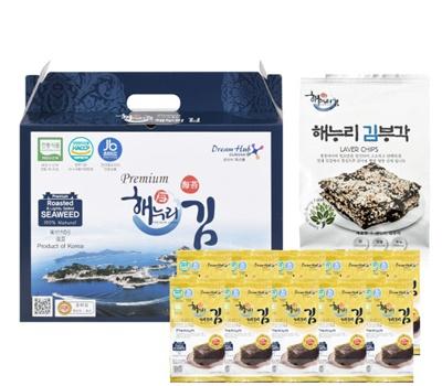 [해누리김] 도시락김25봉&전통맛 김부각2봉