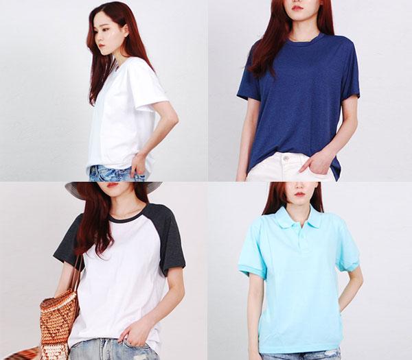 [엘케이트 기획전]남여공용 티셔츠 4종택일-면티셔츠/국내생산